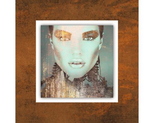 Tableau en métal Copper Woman I 50x50 cm