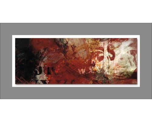 Tableau en métal Abstraction VIII 50x100 cm