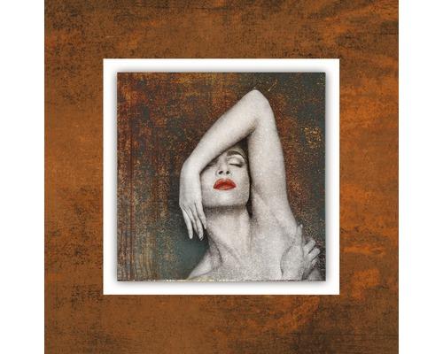 Tableau en métal Copper Woman II 50x50 cm