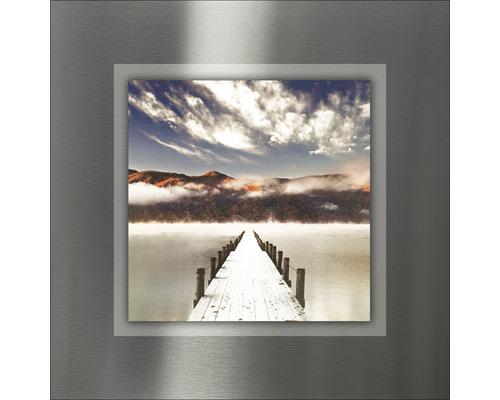 Tableau en métal Way To Sundown II 50x50 cm