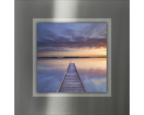 Tableau en métal Way To Sundown I 50x50 cm