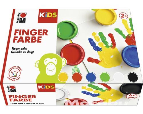 Peinture aux doigts Marabu KIDS 100ml lot de 6