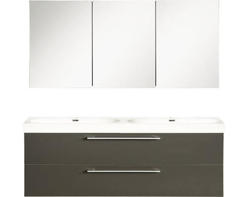 Ensemble de meubles de salle de bains Somero anthracite 120x54cm avec armoire à glace