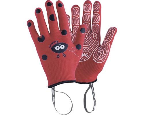 Gants pour enfants ANABEL-IT 5-6 ans 1 paire rouge