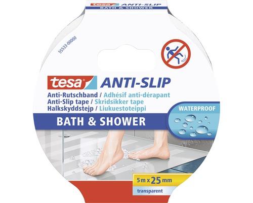 Adhésif antidérapant tesa® ANTI-SLIP salle de bains & douche transparent
