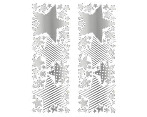 Autocollant mural Étoile argent 25x70 cm
