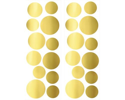 Autocollant mural Points dorés 25x70 cm