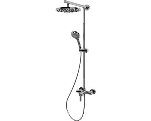 Colonne de douche avec mitigeur monocommande Schulte Classic DuschMaster Rain ExpressPlus EP9620 02 rond chrome