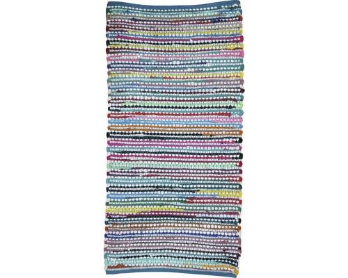 Tapis en chiffon noeud multicolore 50x80cm