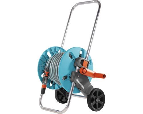 Dévidoir sur roues GARDENA CleverRoll, kit S, turquoise avec 20m de tuyau et accessoires