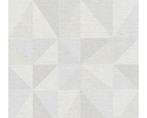 Papier peint intissé 35181-3 Björn triangles gris taupe bleu