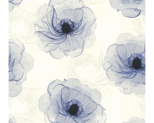 Papier Peint Intisse 34274 1 X Ray Fleur Blanc Bleu Paillettes