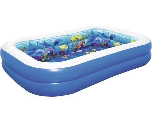 Pataugeoire 3D Adventure Pool 262x175x51cm bleu