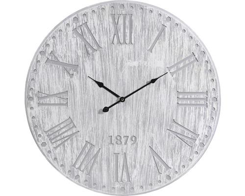 Horloge murale en bois gris Ø 60 cm