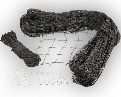 Filet de protection pour chat 3x4 m, noir