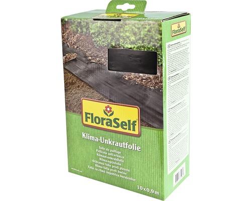 Film climatique anti-mauvaises herbes FloraSelf 10x0,9m 33g/m² noir