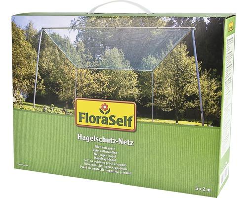Filet de protection contre la grêle FloraSelf 5x2 m maillage 8 mm vert