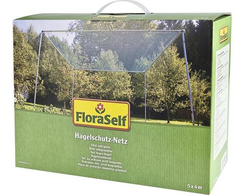 Filet de protection contre la grêle FloraSelf 5x4 m maillage 8 mm vert