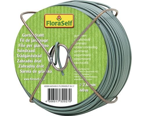 Ficelle de jardin FloraSelf métal et plastique caoutchouté Ø2mm 40m vert