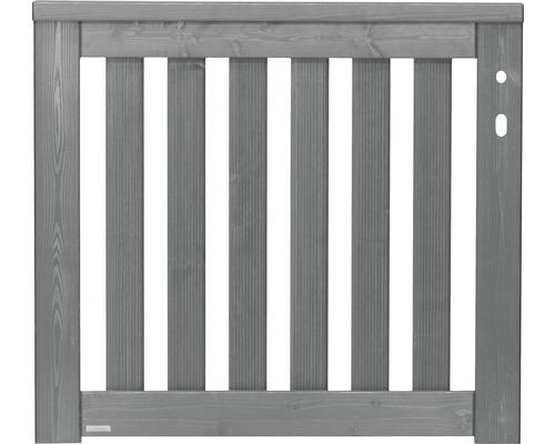 Portail à un vantail Konsta Girona 100x90cm à droite, gris clair