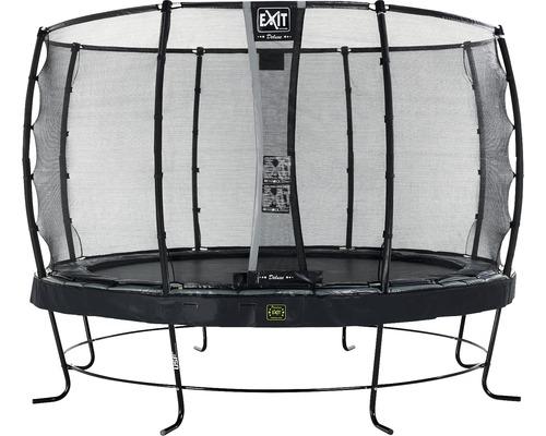 Trampoline EXIT Elegant Premium avec filet de sécurité Deluxe Ø427cm noir