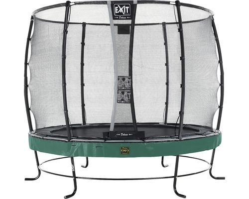 Trampoline EXIT Elegant avec filet de sécurité Economy Ø253cm vert