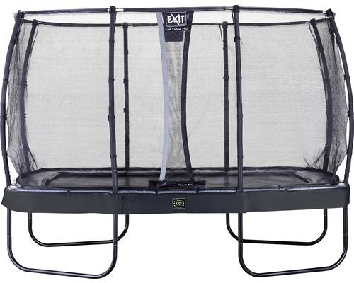 Trampoline EXIT Elegant Premium avec filet de sécurité Deluxe 239x382cm noir