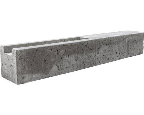 Poteau de départ standard à deux côtés 193/248x13x13cm, gris