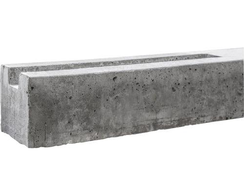 Poteau de départ standard à un côté 39/80x11x11cm, gris