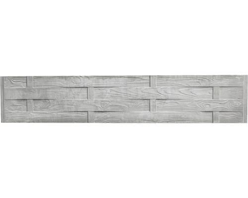Plaque de clôture en béton Standard Flecht 200x38,5x3,5cm