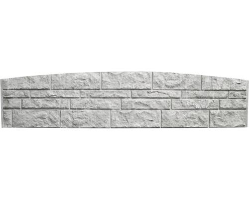 Plaque de clôture en béton à finition arrondie Standard Fels 200x45x3,5cm