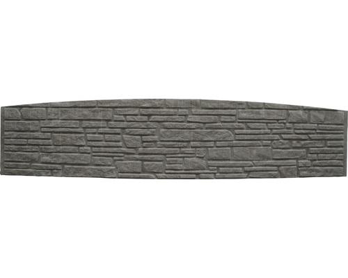 Plaque de clôture en béton à finition arrondie Standard Montana 200x45x3,5cm