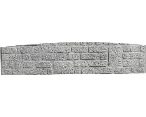 Plaque de clôture en béton à finition arrondie Standard Romania 200x45x3,5cm