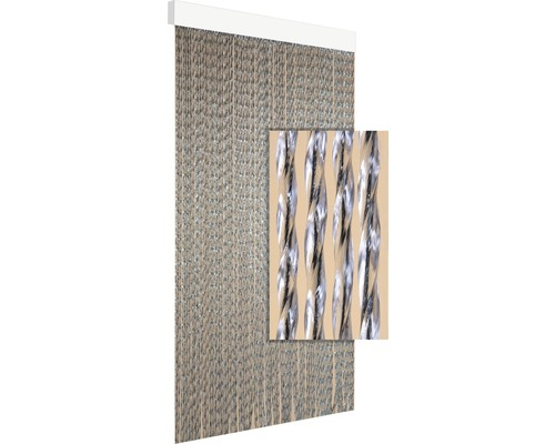 Rideau de porte DEGOR Art3 noir 100x230 cm