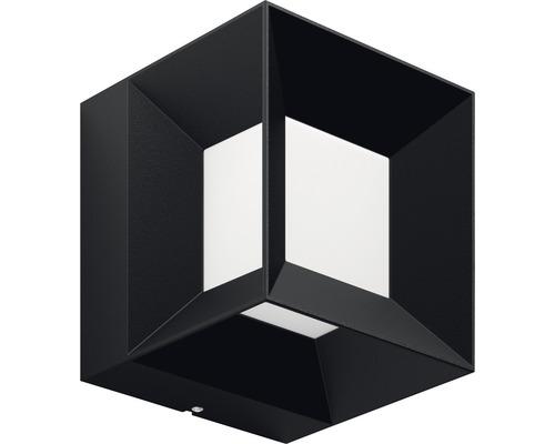 Applique murale LED pour extérieur Parterre noir avec 1 ampoule 800 lm blanc chaud 130x130 mm