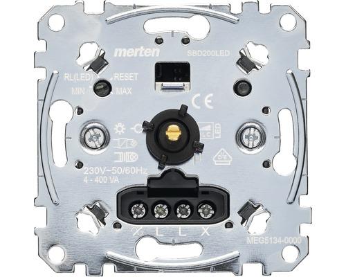 Insert de variateur rotatif Merten MEG5134-0000 pour ampoules halogènes à intensité lumineuse variable + ampoules LED