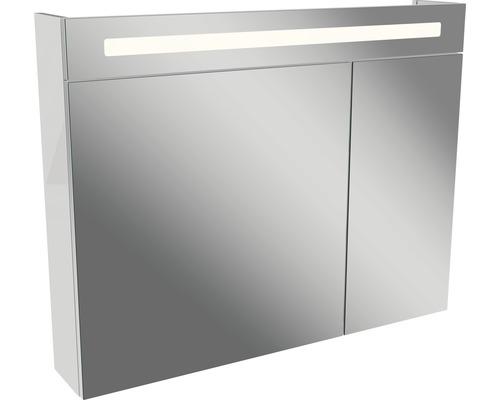 Spiegelschrank Fackelmann Lino weiß 2 Türen 90x71 cm IP 20
