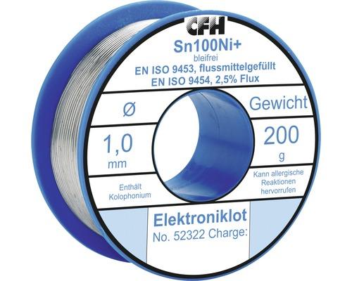 Fil de soudure électronique CFH EL 322 sans plomb 200g