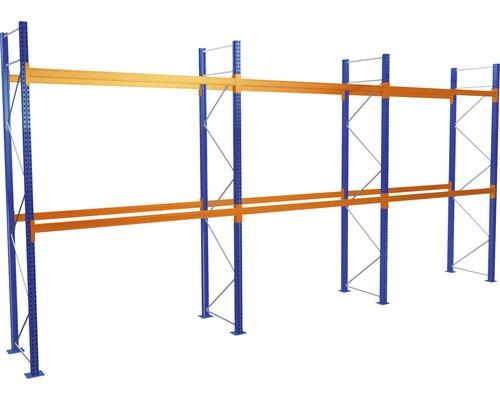 Kit de démarrage /Module de base étagère à palettes avec 3 niveaux / 3 compartiments de chacun 2.700 mm pour palettes jusqu''à 730 kg capacité de charge 5870 kg