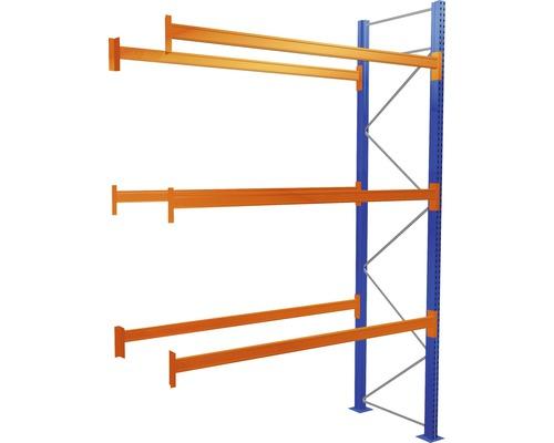 Étagère à palettes étagère annexe avec 4 niveaux, 1 compartiment de 2.700 mm pour palettes jusqu''à 1.060 kg capacité de charge 11470 kg