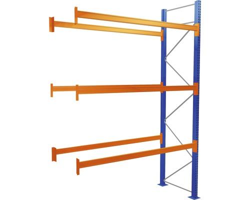 Étagère à palettes étagère annexe avec 4 niveaux, 1 compartiment de 2.700 mm pour palettes jusqu''à 730 kg capacité de charge 8390 kg