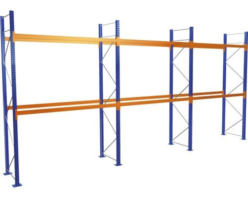 Kit de démarrage /Module de base étagère à palettes avec 3 niveaux / 3 compartiments de chacun 2.700 mm pour palettes jusqu''à 1.060 kg capacité de charge 7300 kg