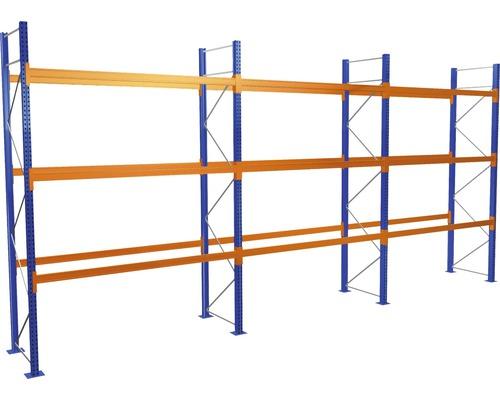 Kit de démarrage /Module de base étagère à palettes avec 4 niveaux / 3 compartiments de chacun 2.700 mm pour palettes jusqu''à 730 kg capacité de charge 8390 kg