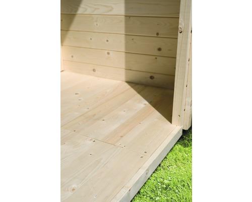 Plancher Karibu pour dimensions de socle 302x242cm naturel