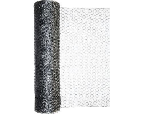 Grillage triple torsion, maillage 13mm, 10x1m, galvanisé