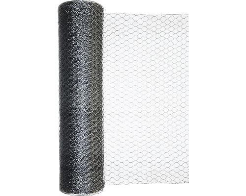 Grillage triple torsion, maillage 25mm, 10x0,5m, galvanisé