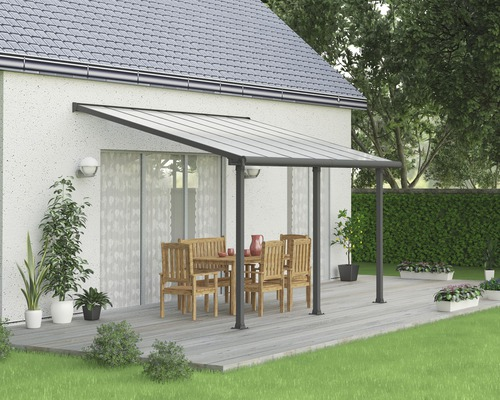 Toiture pour terrasse PALRAMOlympia 16mm 3x4,2 grise