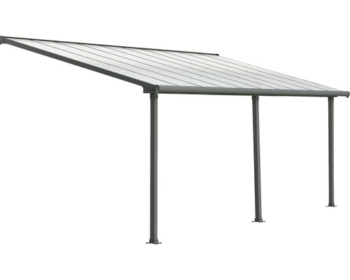 Toiture pour terrasse PALRAMOlympia 16mm 3x6,1 grise