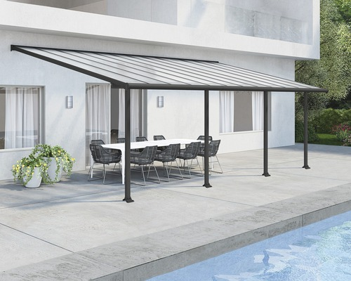Toiture pour terrasse PALRAMOlympia 16mm 3x7,3 grise