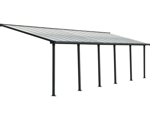 Toiture pour terrasse PALRAMOlympia 16mm 3x9,15 grise